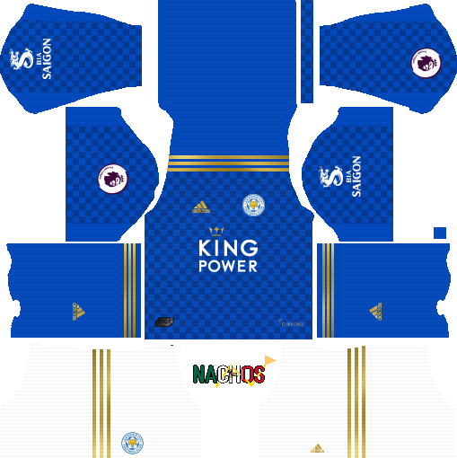 647e7e28338 adidas Leicester City 2019 20 Home GK Kit for Dream League Soccer 2019 URL   https   i.imgur.com tokYM2L.png